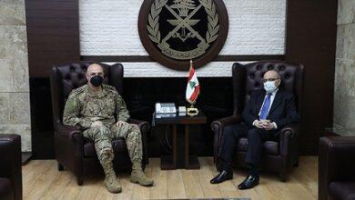 صورة قائد الجيش استقبل نصري خوري