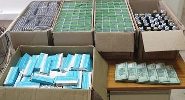 صورة ضبط كميات كبيرة من المخدرات داخل منزل في حي السلم