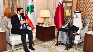 صورة دياب التقى امير قطر وزار السفارة اللبنانية بالدوحة