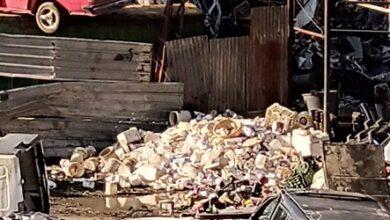 """صورة """"بوَر الخردة"""" عشوائية وسرقة الحديد والنحاس منتشرة"""