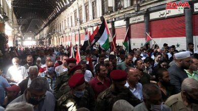 صورة مسيرات حاشدة في عدد من المدن العربية والإسلامية بمناسبة يوم القدس العالمي