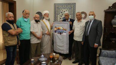 صورة قيادة حركة فتح في بيروت تزور رئيس جمعية المشاريع الخيرية الإسلامية
