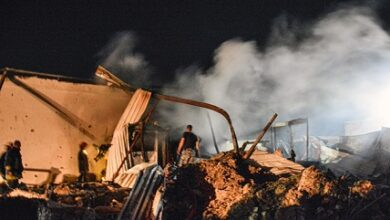 صورة إستشهاد مدني بعدوان إسرائيلي على اللاذقية
