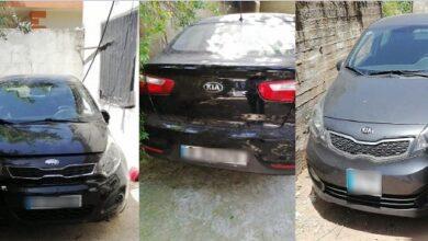 صورة قوى الامن تضبط 3 سيارات مسروقة ومخبأة في عكار