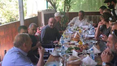 """صورة البستاني لبى دعوة هيئة سلفايا في """"الوطني الحر"""" على مأدبة افطار"""