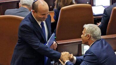 """صورة حكومة """"بينت-لابيد"""" تنال ثقة الكنيست.. نتنياهو خارج الحكم"""