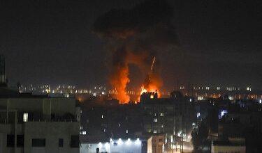 صورة الاحتلال الإسرائيلي يقصف مواقع للمقاومة في غزة
