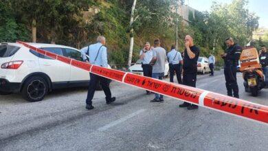 """صورة إصابة شرطيين """"إسرائيليين"""" بعملية طعن في القدس المحتلة"""