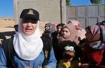 صورة بالفيديو – اعتصام لاهالي وعمال مشروع طفيل الحديثة رفضا لقرار ازالة الهنغارات