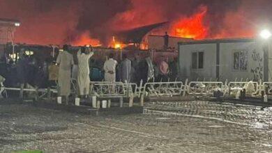 """صورة 60 قتيلاً حصيلة حريق """"مستشفى الحسين"""""""