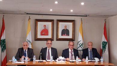 صورة جلسة استثنائية للهيئة العمومية للمجلس العام الماروني