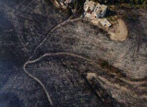 صورة بالصورة – حجم الكارثة نتيجة حرائق عكار