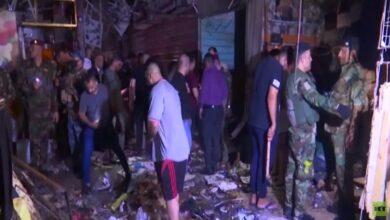 """صورة تشييع ضحايا هجوم """"ليلة الأضحى"""" الانتحاري في بغداد"""