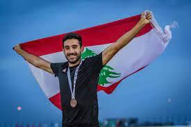 صورة محاسن فتوح ونور الدين حديد آخر أوراق لبنان في الأولمبياد