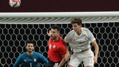 """صورة مصر تحصد نقطة """"أولمبية"""" ثمينة من إسبانيا"""
