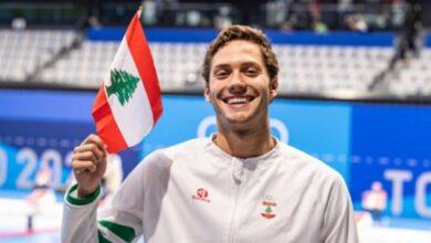 صورة السبّاح كبارة يسجل رقماً قياسياً للبنان في أولمبياد طوكيو