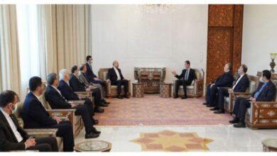 صورة الأسد: إيران شريك أساسي لسورية والتنسيق في مكافحة الإرهاب أثمر نتائج إيجابية