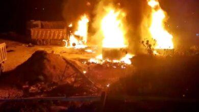صورة قتلى وجرحى بإنفجار صهريج محروقات في عكار