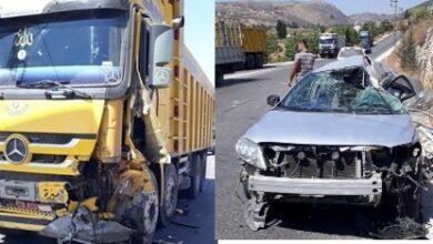 صورة وفاة مواطن وإصابة زوجته في حادث سير على طريق الجرمق
