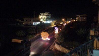 صورة الدفعة الثانية من قوافل الصهاريج المحمّلة بالمازوت تدخل لبنان