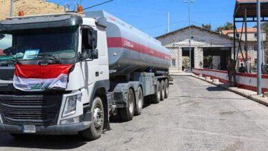 صورة وصول الشحنة الأولى من الفيول اويل العراقي لصالح مؤسسة كهرباء لبنان