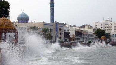 """صورة الإعصار """"شاهين"""" يضرب سلطنة عمان.. أمطار غزيرة ورياح قوية"""